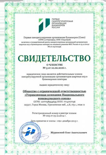 Свидетельство о членстве в СРО