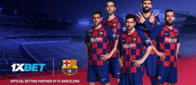 БК 1xBet выпустила рекламное видео с футболистами Барселоны