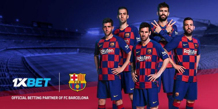 1xbet партнер ФК Барселона